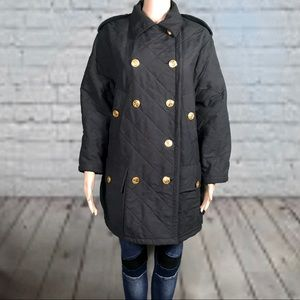 SONIA RYKIEL Double-Breasted Diamond Quilted Coat